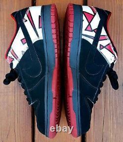 NIKE JORDUNK 8 Dunk Low CL 12 Air Jordan VII Playoffs 307696-002 SB Black Red 1