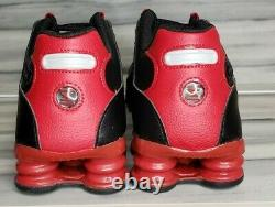 NIKE SHOX NZ LEATHER Black/Gym Red MEN SIZES NEW With BOX