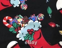 NWT LuLaRoe Leggings OS BLACK & RED CHRISTMAS STOCKING Candy Cane UNICORN
