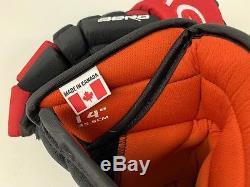 New! Custom Black Red White Eagle Aero Pro Stock Hockey Player Gloves 14 Canada