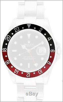 New Genuine ROLEX Bezel Insert Black Red Coke GMT 16760 New Old Stock
