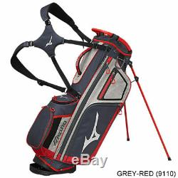 New In Stock Mizuno BR D4 Golf Stand Bag Black/Red/Grey