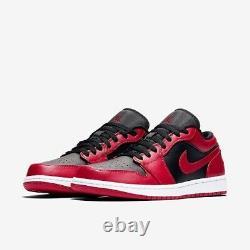 New Jordan 1 Low Reverse Bred Size 9 Men 553558-606 FREE SHIPPING