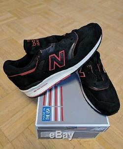 New New Balance M997dexp 44/9.5/10 Black Red Made In USA Deadstock