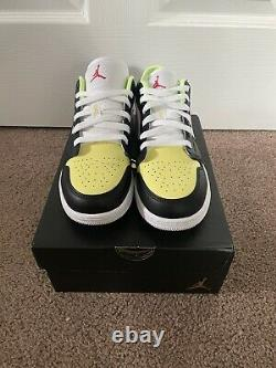 New Nike Air Jordan 1 Low GS Black/LT Fusion Red-White Sizes 4Y-7Y DH5927-006