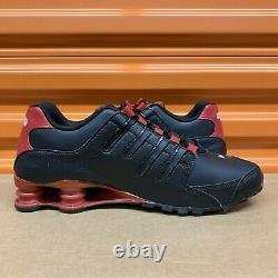 New Nike Shox NZ EU Men Size Running Shoes Black/Red/Silver 501524 027