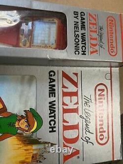 New Old Stock Nelsonic Unused Nintendo Red Legend of Zelda Game Watch
