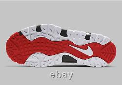 Nike Air Barrage Mid Shoes White University Red Black AT7847-102 Mens Multi Size