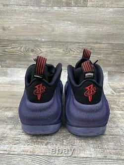 Nike Air Foamposite One Denim Blue Black Red Penny Foam White Size 14 314996-404