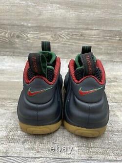 Nike Air Foamposite Pro 624041-004 Black Red Green Gum Penny Foam OG Size 9.5