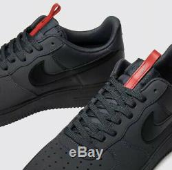 Nike Air Force 1 07 Anthracite (Black/Red) UK 9 Sold Out Dead Stock BQ4326