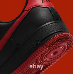 Nike Air Force 1'07 Shoes Black University Red DC2911-001 Men's Multi Size NEW