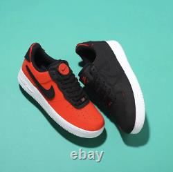 Nike Air Force 1/1 Low Shoes Black Chile Red DD2429-001 Men's Removable Patches