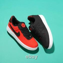 Nike Air Force 1/1 Shoes Black Chile Red DD2429-001 Men's Size 12 NEW