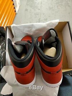 Nike Air Jordan 1 Bred Banned 2016 Size 13 Retro High OG Black Red-Dead Stock