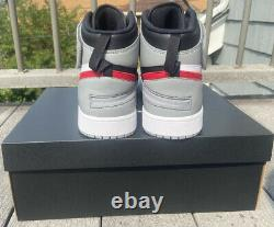 Nike Air Jordan 1 HI FLYEASE Shoes Black Red Grey Mens Size 14 NEW