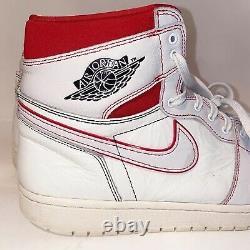 Nike Air Jordan 1 High OG Phantom Sail White Red Black 2019 555088-160 Size 14