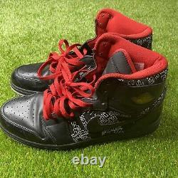 Nike Air Jordan 1 High Retro Hall Of Fame HOF Black Red 2009 Sz 13