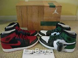 Nike Air Jordan 1 I Retro High DMP Defining Moments Pack Black Red Green Men 10