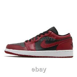 Nike Air Jordan 1 Low I AJ1 Reverse Bred Black Red White Men Shoes 553558-606