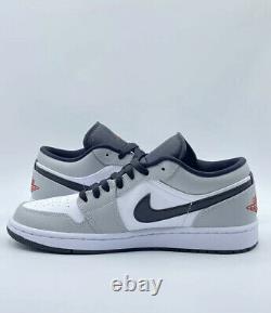 Nike Air Jordan 1 Low Light Smoke Grey Black Red White 553558-030 Size 10 NEW