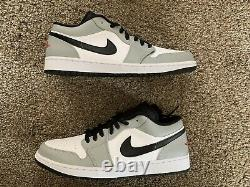 Nike Air Jordan 1 Low Light Smoke Grey Black Red White 553558-030 Size 13 NEW