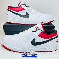 Nike Air Jordan 1 Low Retro 553558-118 Red White Black University Men's + GS NEW