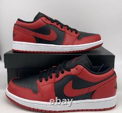 Nike Air Jordan 1 Low Reverse Bred Mens Size 553558/553560-606 Black Red Banned