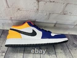 Nike Air Jordan 1 Low Royal Yellow Blue Red Shoes 553558-123 Men's Size 12 NEW