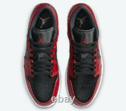 Nike Air Jordan 1 Low Shoe Reverse Bred Black Gym Red 553558-606 Men's or GS NEW