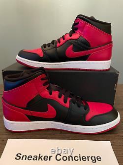 Nike Air Jordan 1 MID Banned 554724-074 Black Red