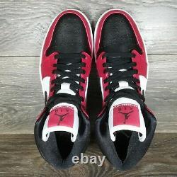 Nike Air Jordan 1 Mid'Chicago Black Toe' Sneakers (554724-069) Men's & GS Sizes