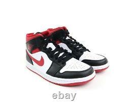 Nike Air Jordan 1 Mid Gym Red Black White Toe Chicago Bred 554724-122