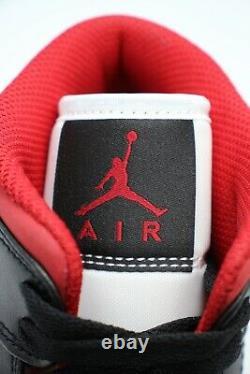 Nike Air Jordan 1 Mid Metallic Gym Red/Black/White 554724-122 Men's/GS/PS Sizes