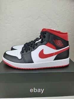 Nike Air Jordan 1 Mid Metallic Gym Red/Black/White 554724-122 Men's Sizes