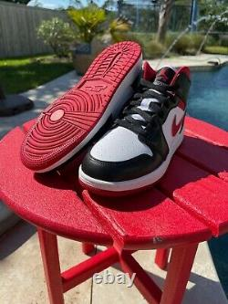 Nike Air Jordan 1 Mid Metallic Gym Red / Black /White DJ4695-122 Grade School GS