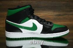Nike Air Jordan 1 Mid Pine Green Black Red 554724-067 Basketball Shoes Men's NEW
