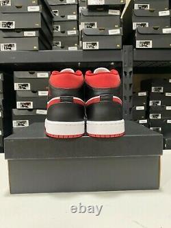 Nike Air Jordan 1 Mid Shoes Metallic Red Red Black White 554724-122 Men's NEW