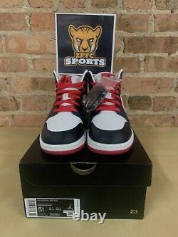 Nike Air Jordan 1 Mid Very Berry Red Black 554725-016 GS Sizes