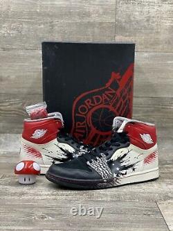 Nike Air Jordan 1 OG High Dave White Size 11 Wings Black Red Cement 464803-001