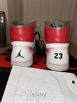 Nike Air Jordan 1 OG High Dave White Size 12 WINGS BLACK RED CEMENT 464803-001