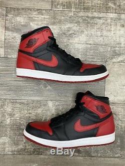 Nike Air Jordan 1 OG High Retro Bred Banned 11 Black Red White 2013 555088-023