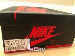 Nike Air Jordan 1 Retro 2016 Banned Black Red White Size 13 555088-001