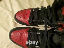 Nike Air Jordan 1 Retro High Bred Toe 2018 Gym Red Black Size 10