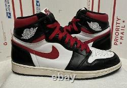 Nike Air Jordan 1 Retro High OG Black Gym Red 555088-061 Size 10.5