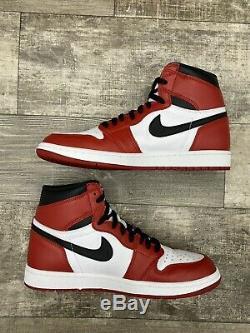 Nike Air Jordan 1 Retro High OG Chicago White Black Red 2015 555088-101 Sz 10.5