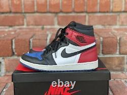 Nike Air Jordan 1 Retro High OG Top 3 2016 Sz 8.5 555088026 White Red Royal Blue