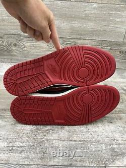Nike Air Jordan 1 Retro Low OG 705329-001 BRED Banned White Black Red One Sz 12