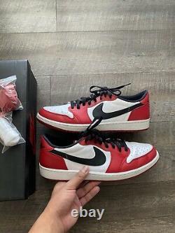 Nike Air Jordan 1 Retro Low OG Chicago White Black Red Bred One 705329-600 Sz 13