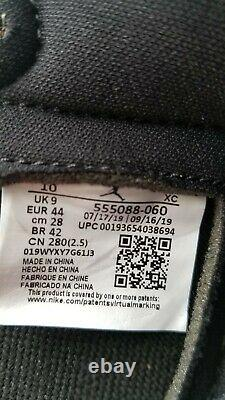 Nike Air Jordan 1 Retro OG High Black Satin Gym Red Size 10 Men